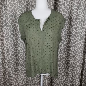🌈Universal Thread Green Blouse